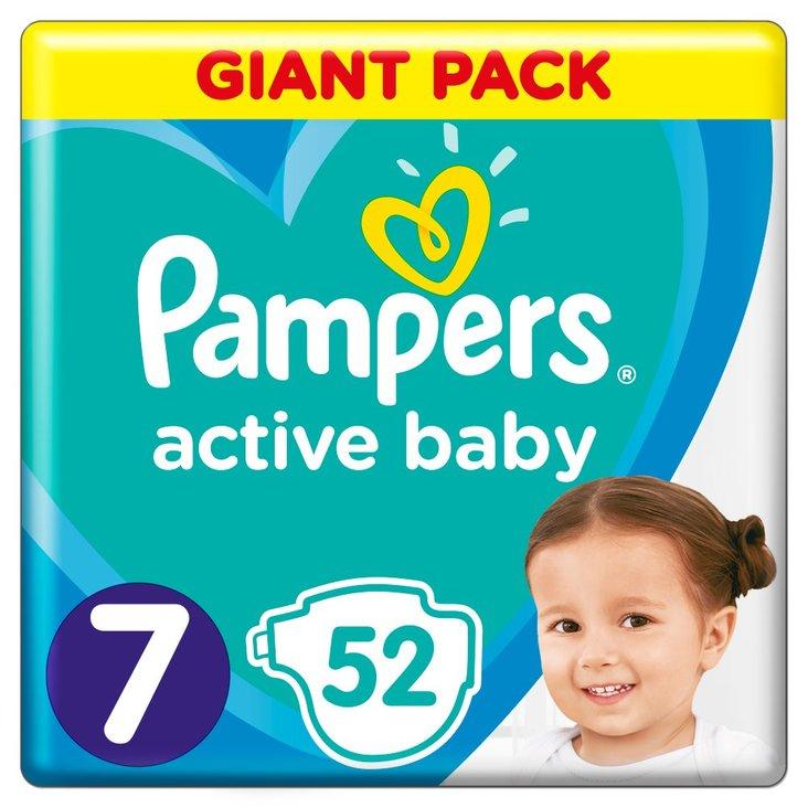 Pampers Active Baby Rozmiar 7, 52 pieluszki, 15 kg+ (1)