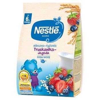 Nestlé Kaszka mleczno-ryżowa truskawka-jagoda dla niemowląt po 6. miesiącu 230 g (1)