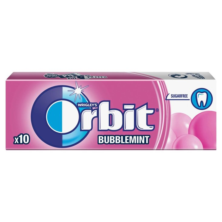Orbit Bubblemint Guma do żucia bez cukru 14 g (10 drażetek) (1)