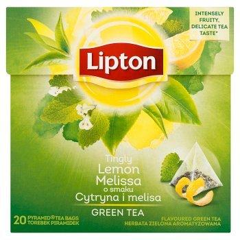 Lipton o smaku Cytryna i melisa Herbata zielona aromatyzowana 32 g (20 torebek) (2)