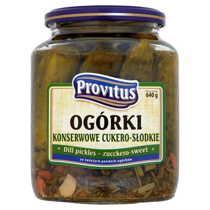 Provitus Ogórki konserwowe cukero słodkie 640 g (2)
