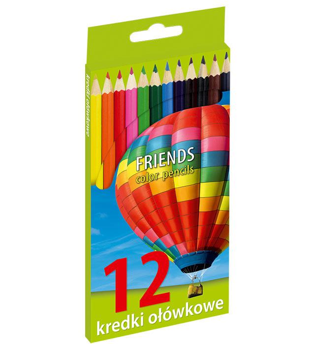 Kredki ołówkowe sześciokątne 12 kolorów (1)