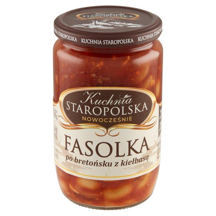 Kuchnia Staropolska Fasolka po bretońsku z kiełbasą 700 g (1)
