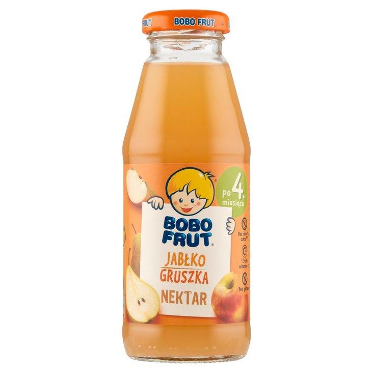 Bobo Frut Nektar jabłko gruszka po 4. miesiącu 300 ml (1)