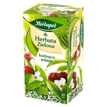 Herbapol Herbata zielona kwitnąca wiśnia 34 g (20 x 1,7 g) (1)