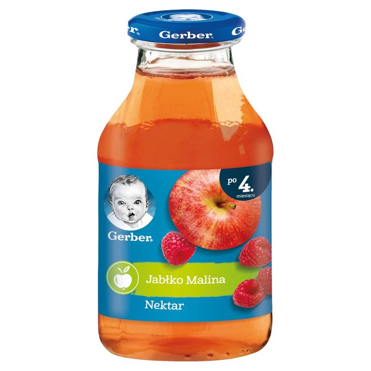 Gerber Nektar jabłko malina dla niemowląt po 4. miesiącu 200 ml (1)