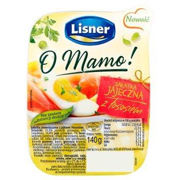 Lisner O Mamo! Sałatka jajeczna z łososiem 140 g (2)