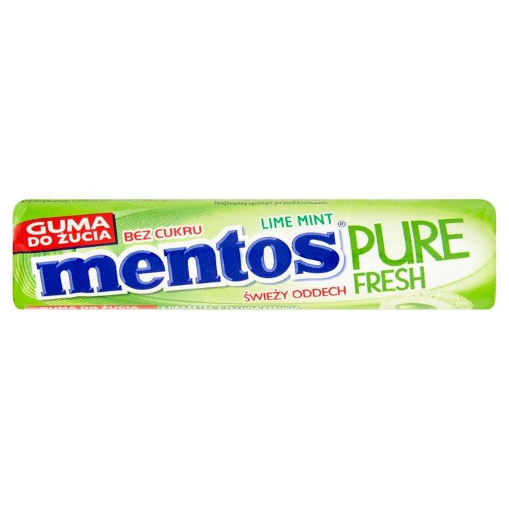 Mentos Pure Fresh Lime Mint Guma do żucia bez cukru 15,5 g (8 sztuk) (1)