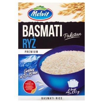 Melvit Premium Ryż Basmati Pakistan 400 g (4 torebki) (2)