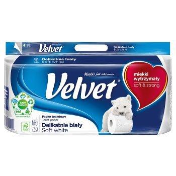 Velvet Delikatnie Biały Papier toaletowy 8 rolek (2)