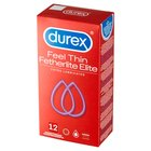 Durex Feel Thin Fetherlite Elite Extra Lubricated Prezerwatywy 12 sztuk (1)