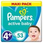 Pampers Active Baby Rozmiar 4+, 53 pieluszki, 10-15 kg (1)